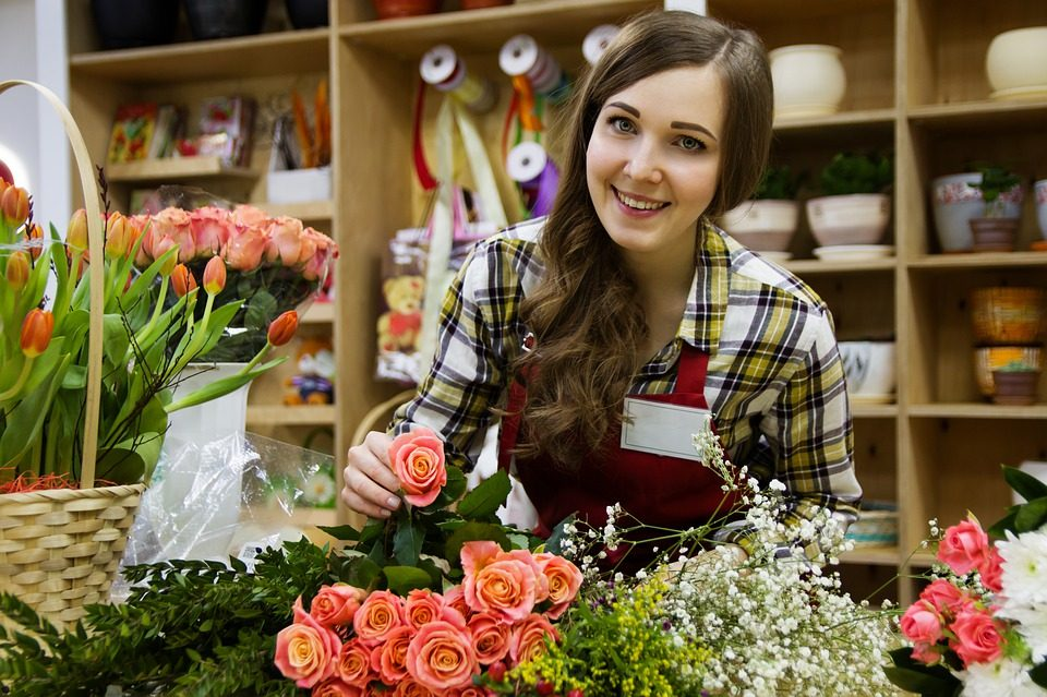 My new Job – Working in a Flower Shop